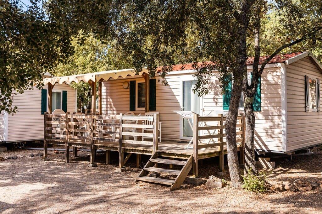 Mobil-Home terrasse bois